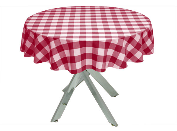 Red Gingham Large Tablecloth