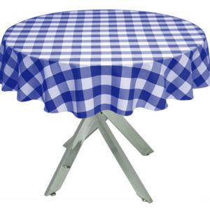 Royal Blue Gingham Large Tablecloth