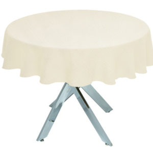Ivory Linen Union Round Tablecloth