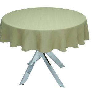 Sandalwood Linen Union Round Tablecloth