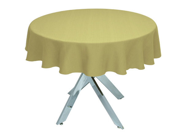 Olive Linen Union Round Tablecloth