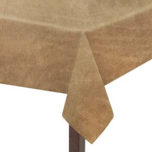 Coffee Suedette Square Tablecloth