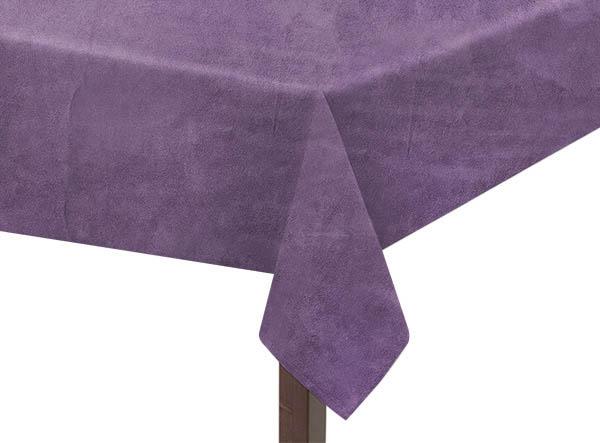 Purple Suedette Square Tablecloth