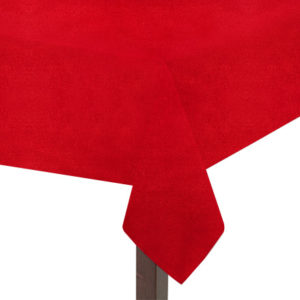 Red Suedette Square Tablecloth