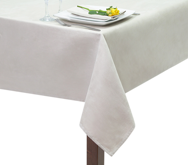 Ivory Suedette Square Tablecloth