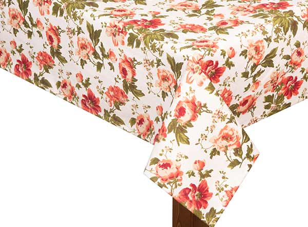 Summer Flowers Square Tablecloth
