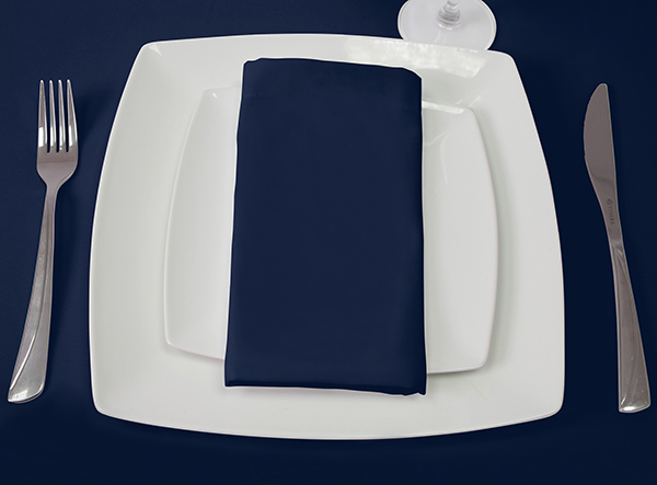 100% fire Retardant Navy-Blue Napkin