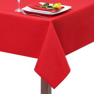 superior Polyester Red Tablecloth