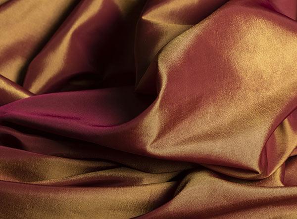 Taffeta bronze square tablecloth