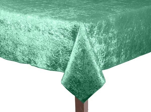 Forest Green Crushed Velvet Square Tablecloth