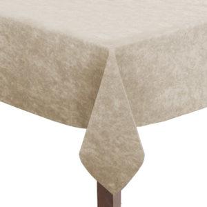 Ivory Crushed Velvet Square Tablecloth