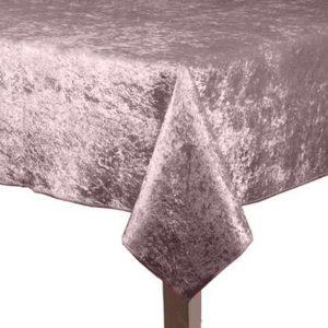 Light Pink Crushed Velvet Square Tablecloth