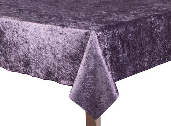Purple Crushed Velvet Square Tablecloth