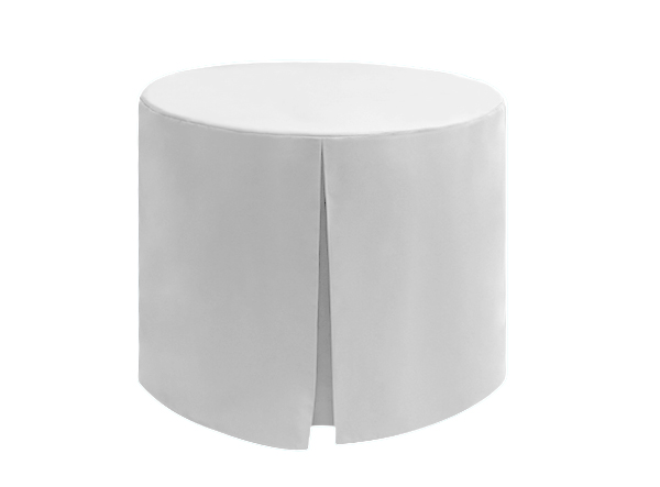 Superior Polyester Cotton Fitted Round White