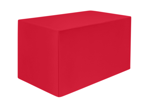 Superior Polyester Fitted Square Red