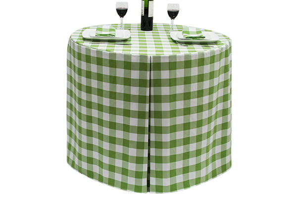Fitted Round Large Gingham Lime-Green