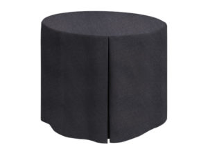Fitted Round Linen Union Black