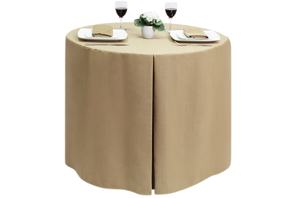 Fitted Round Linen Union Sandalwood