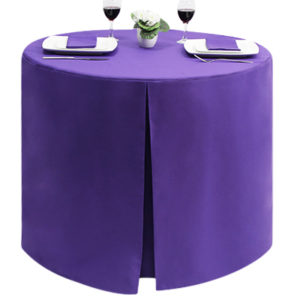 Fitted Round Polycotton Purple