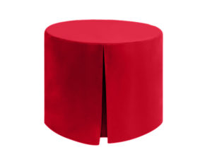 Fitted Round Superior Polyester Red