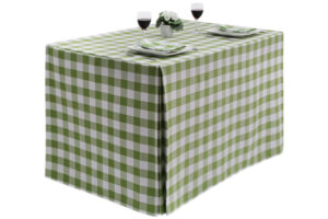 Gingham Large Square Fitted Tablecloth