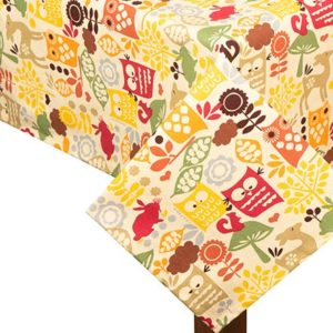 Forrest Friends Square Tablecloth