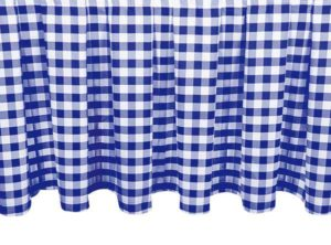 Gingham Skirting Royal Blue