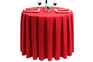Pleated Round Ivy Leaf Red