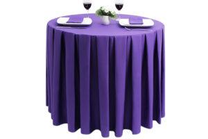 Pleated Round Polycotton Purple .