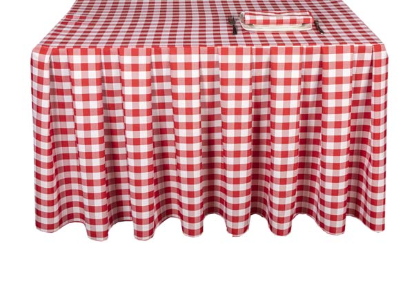Pleated Square Gingham Red