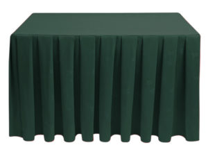 Pleated Square Ivy Leaf Forest Green
