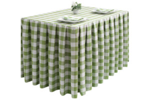 Pleated Square Large Gingham Lime-Green
