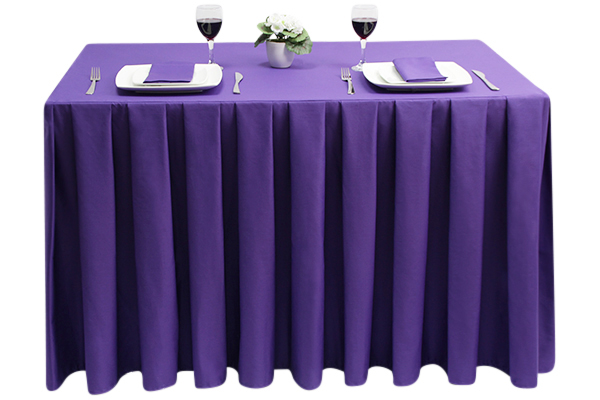 Pleated Square Polycotton Purple