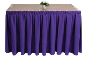 Polycotton Purple Skirting