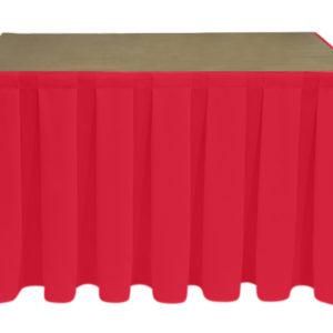 Superior Polyester Red Skirting