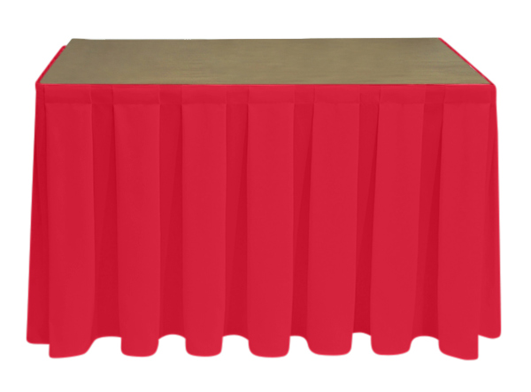 Superior Polyester Red Skirting